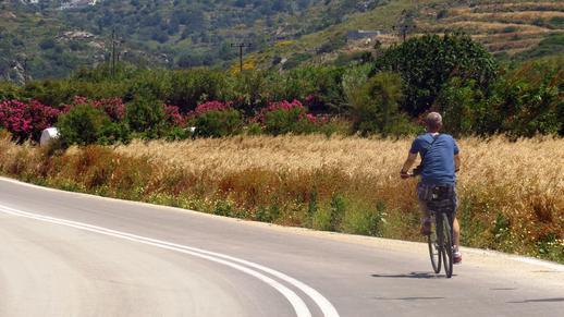 cycling on Naxos