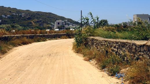 a road on Naxos