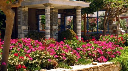 a garden on Naxos