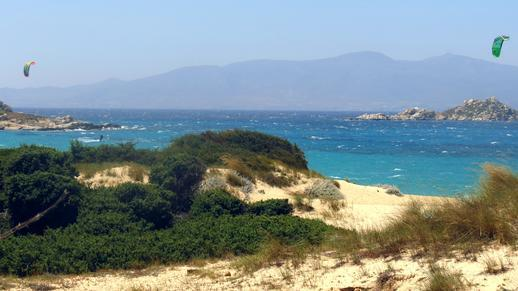 Mikri Vigla beach on Naxos