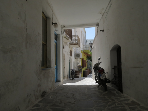 Old Market street in Naxos