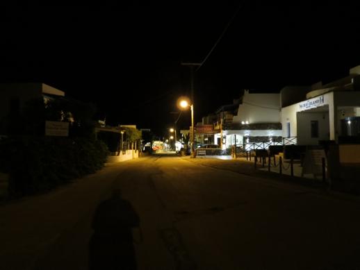 Agios Prokopios street at night