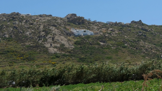 buildings on a hill on Naxos