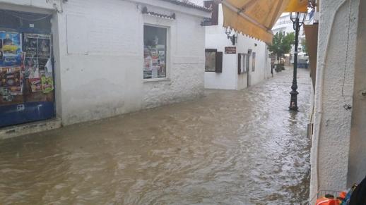 Skiathos street flooding