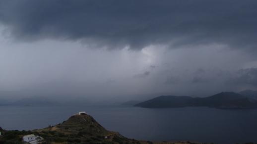 Thunderstorm over Milos