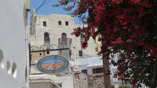 bakery sign in Naxos Town
