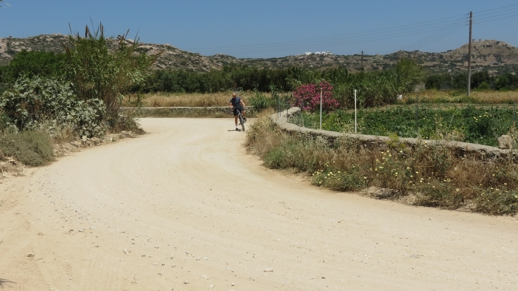 a country road on Naxos