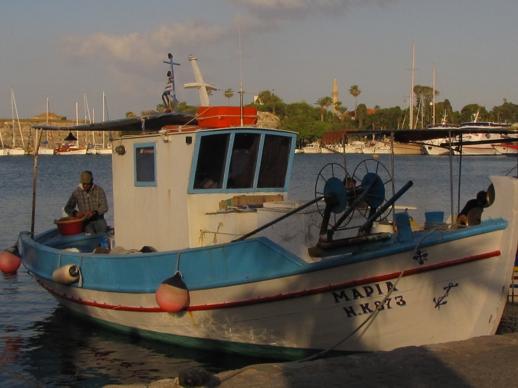 fishing boat on Kos