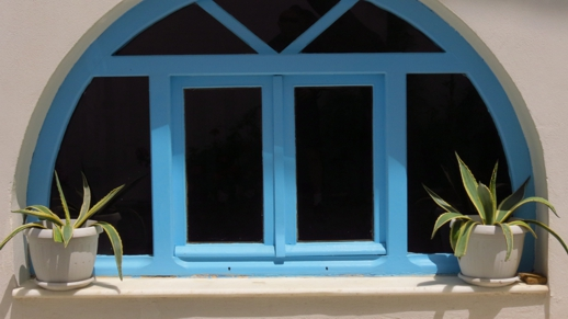 a window in Naxos Town