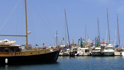 sailboats on the Naxos waterfront