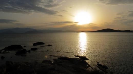 sunset on Naxos