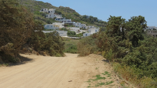road to Orkos beach on Naxos