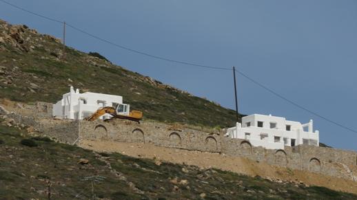 villa construction on Stelida mountain
