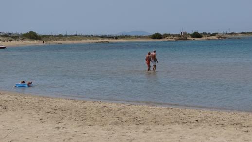 St George's beach on Naxos