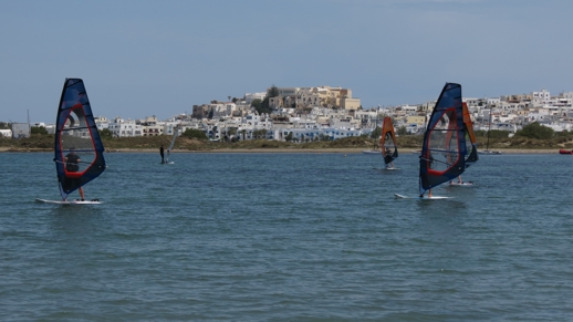winsurfing on Naxos