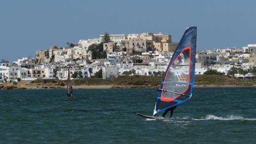 windsurfers at Naxos