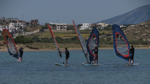windsurfing on Naxos
