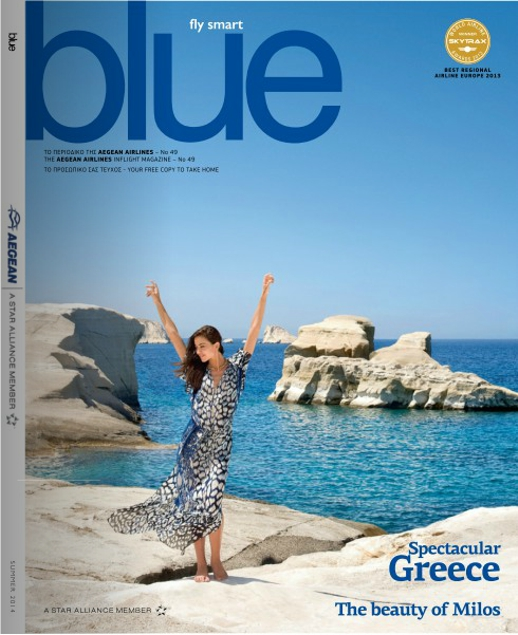 Aegean Airlines Blue magazine cover image