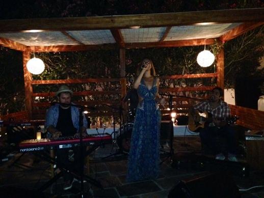 Angelika Dusk at Belvedere Hotel Mykonos