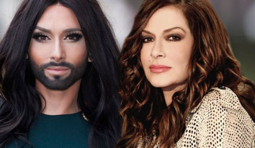 Conchita Wurtz and Anna Vissi