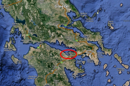 Google map of Greece