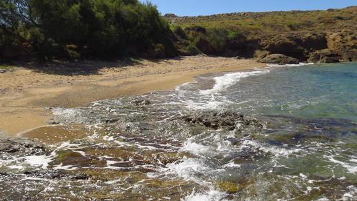 a beach on Naxos