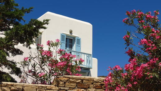 a balcony on Naxos