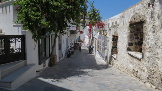 a lane in Naxos Town