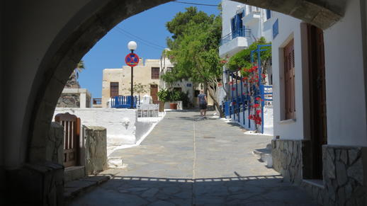 a passageway near the Naxos Castle