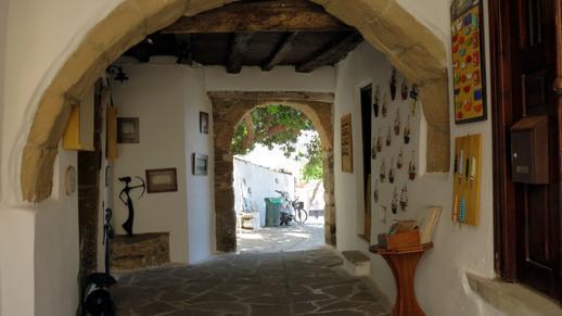 art and souvenir shop in the castle