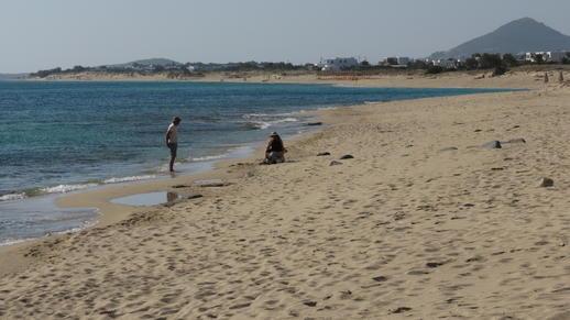 Plaka beach on Naxos