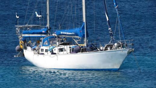 sailboat at Agios Prokopios