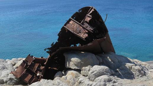 shipwreck at Agios Prokopios
