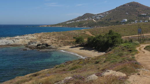 a beach on Naxos