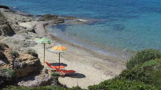 a cove on Naxos