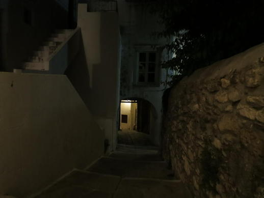 a street in the Naxos Castle