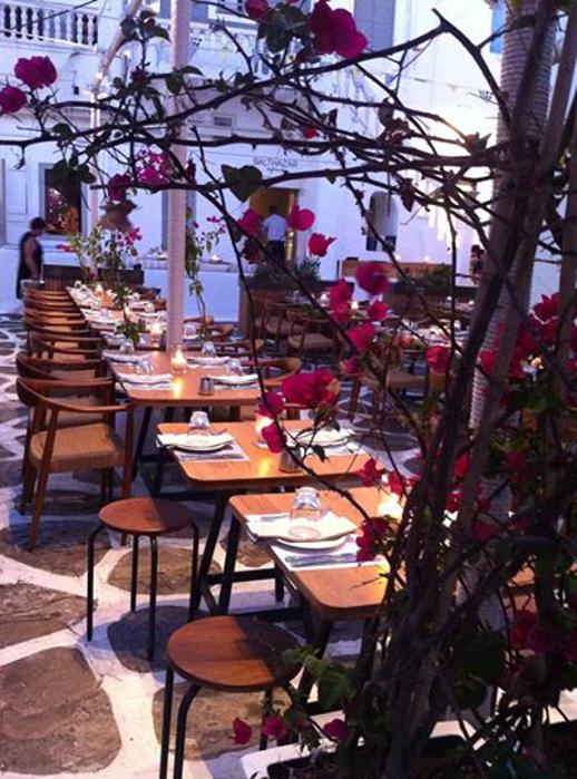 Balthazar restaurant Mykonos