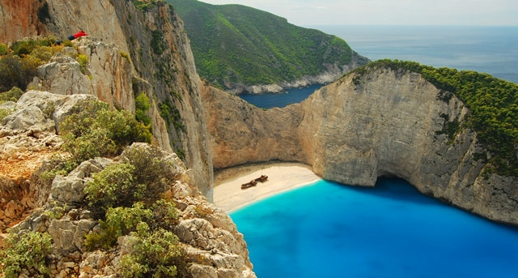 Shipwreck Beach on Zakynthos (Zante) island