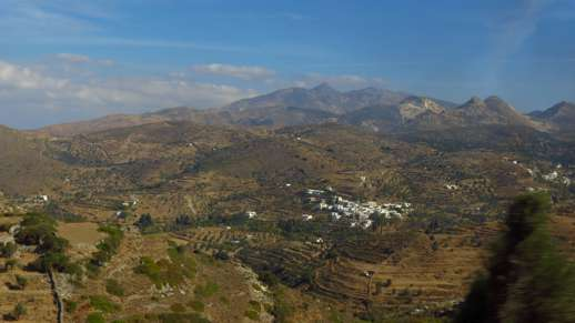 mountain scenery on Naxos
