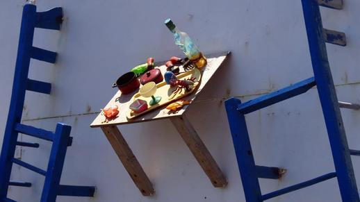 Naxos port snack bar