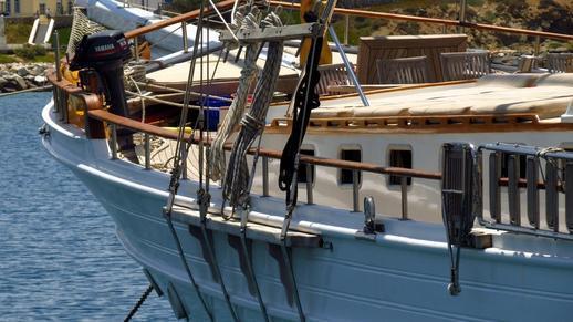 sailboat at Naxos Port