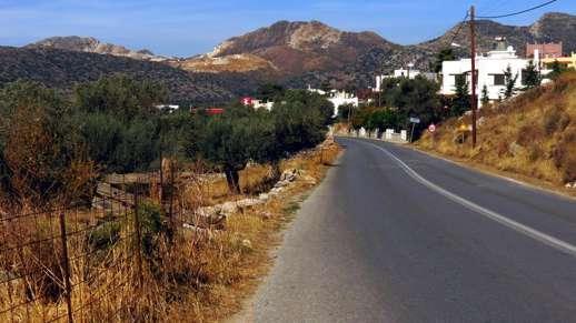 on the highway near Filoti