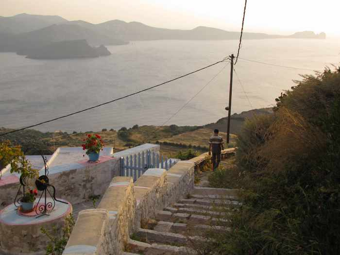 Steps from Kastro to Plaka