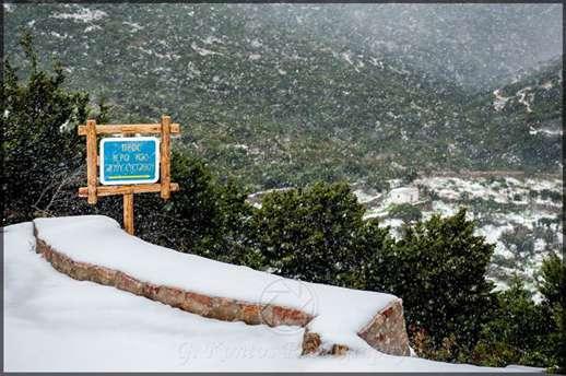 snow on Sifnos