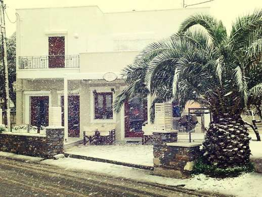 Snow at Chalki Naxos