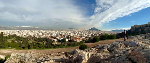 Athens Greece viewed from Mars Hill on Jan 3 2015 in a photo by Athens Walks Tour Company