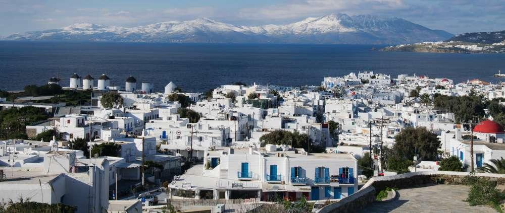 Achim Eckhardt photo of Tinos viewed from a hillside at Mykonos Town