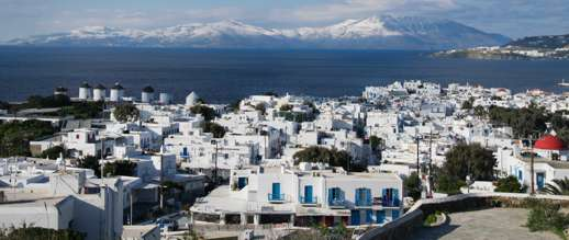 Achim Eckhardt photo of Tinos viewed from a hillside at Mykonos Town