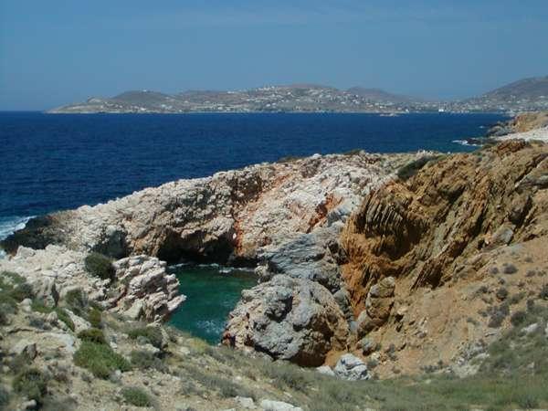 Paros island coast