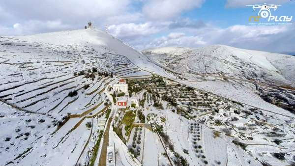 Snow at Alithini Syros